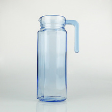 1L Simple Blue Color Glass Jug Water Drinking Bottle Tea Pot