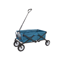 Garden Foldable Wagon with PU Wheel Fishing and Moving Folding Carts