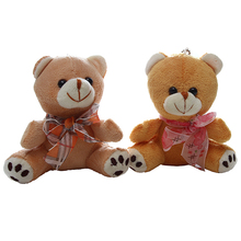 promotion gift lovely handmade stuffed plush toy teddy bear with ribbon