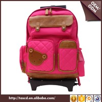 Detachable Kids Cartoon Trolly School Bag Backpack With Wheels