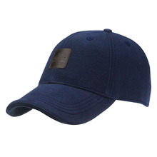 Quality OEM brand knitted baseball cap pattern royal navy 6 panel baseball caps with sandwich bill