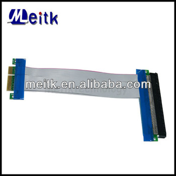 PCI-E 4x to 16x PCI Express Riser Card Extender Ribbon Flex Cable