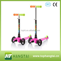 china supplier maxi 3 wheel scooter pu wheels mini fresh item scooter with plastic deck