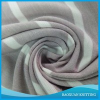 100%Polyester stripe yarn dyed Single Jersey fabric for T-shirts&polo