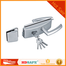 Modern style high quality aluminum double swing glass door lock for wholesale