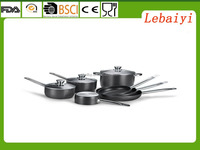 10pcs hard anodized pressed aluminum cookware set