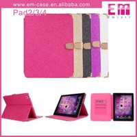 Bling Crystal Diamond Leather Tab Case For iPad 2/3/4 Wallet Tablet Case