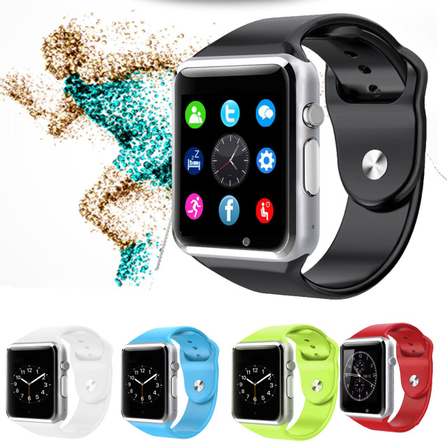 Men/Women WristWatch Bluetooth Smart Watch Sport Pedometer Support SIM TF Card with Camera Smartwatch a1 For Android Smartphone
