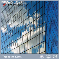 Tempered large glass panels for building