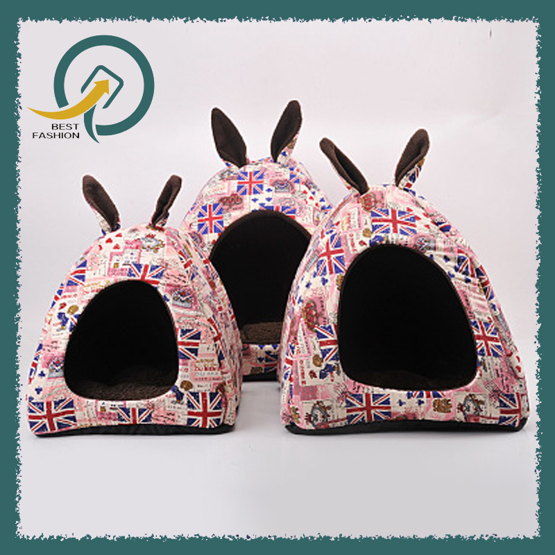 Rabbit Dog Cat Pet Bed Small Big Animal Snuggle Puppy Supplies Indoor Dog House