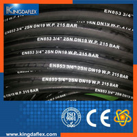 SAE 100R2AT/2SN Wire Braid Reinforcement Hydraulic Rubber Hose 10mm