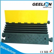 5 channel cable tray cable guard cable ramp rubber hot sale
