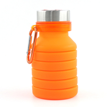 online wholesale shop 16oz silicone case bottle silicone flexible water bottle bpa free collapsible water bottle