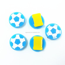 cute plastic shoe decorations soccer shape shoe charms