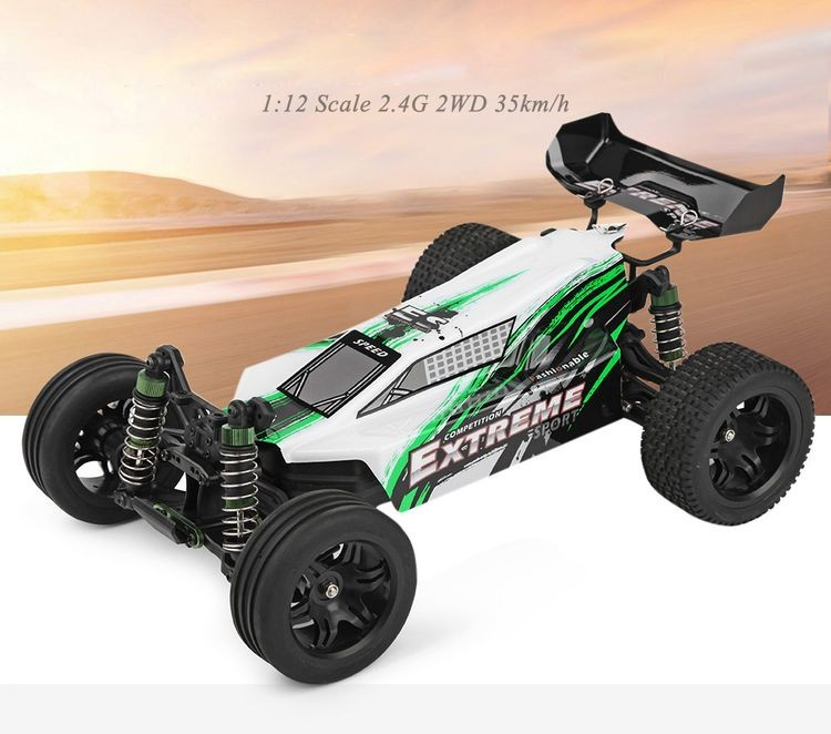 312303A-1-12 Scale 2.4G 2WD RC Off-road Electric Car - WHITE