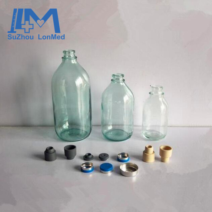 Various sizes of glass infusion bottles /glass vials sterilized for IV fill