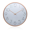 40.2CM China directly wholesale factory for Retro clocks Retro thin case wall clock, rose gold with domed lens