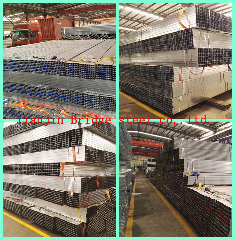 Building materials galvanized rectangular steel pipe tube