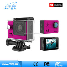 2017 hot sale 1080p helmet sports action camera underwater portable fhd sports camera