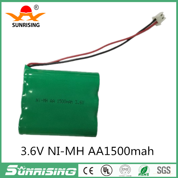 1.2v battery 1500mah ni-mh bateria 3.6v nimh battery pack with plug aa rechargeable ni mh for lighting rc car toy electric tools
