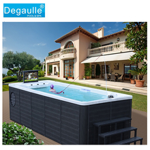 Degaulle Arcrylic Rectangular Portable Jacuzzi Above Ground Endless Swimming Pool