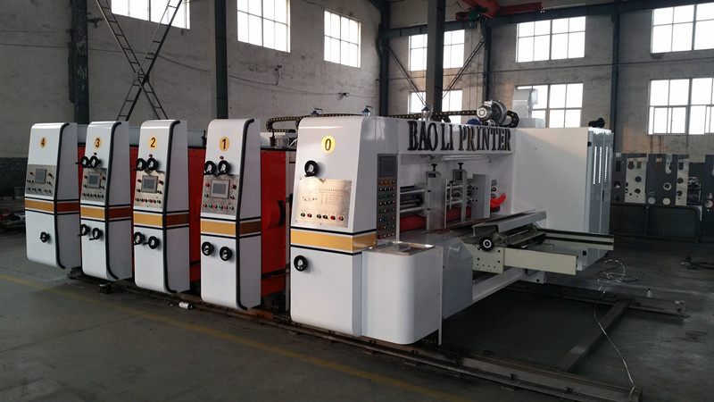 automatic 1-6 color flexo ink corrugated carton printing slotting die cutter machine