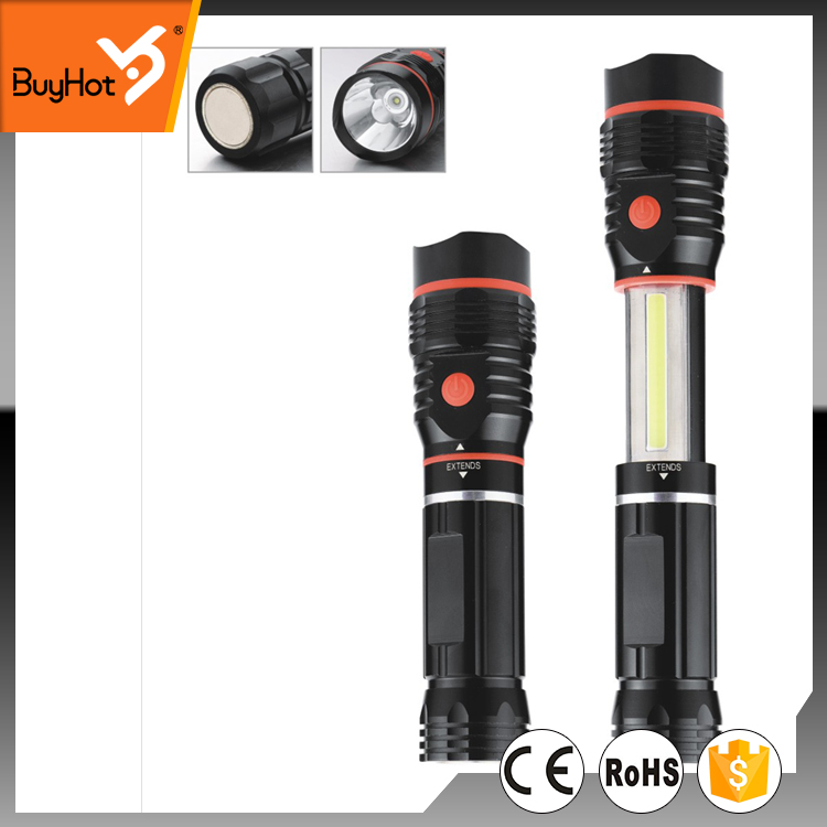 High Powercob led work light with a strong magnet on the bottom, extendable , 3w cob bulb on the body and 3w led on the head.