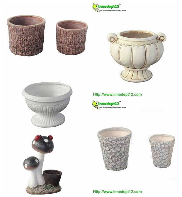 Hot sale garden decor supplies concrete garden flower pot for Garden accessories sale