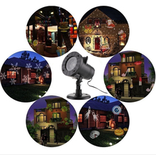 Holiday Decoration Waterproof Outdoor LED Stage Lights 12 Types Christmas Laser Snowflake Projector lamp