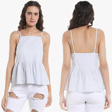 Guangzhou Women Clothing Manufacturers Cold Shoulder Strappy Top
