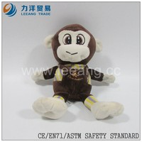 toys plush baby children monkey with clothes for sale, wholesale stuffed monkey toys,CE/ASTM safety stardard