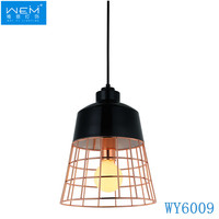 New Design Modern Dining Room Copper Pendant Light Hanging Lamp