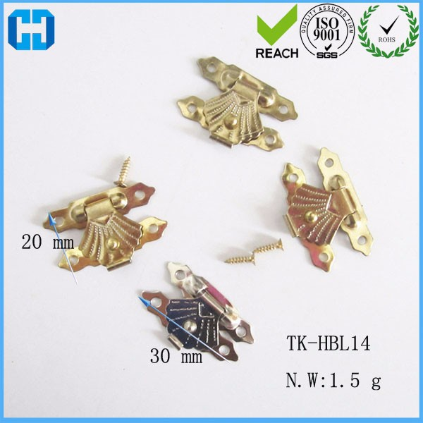 Brass Plated Decorative Flip Box Latch Lock