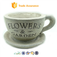 2015 Flower & Garden coffee cup shape MGO big planter pot