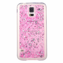 Platinum tpu gel case for Samsung Galaxy S5, Sparkling tpu cover for Galaxy S5 I9600