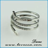 new arrival antique rose cut diamond rings moving snake diamond ring diamond initial rings