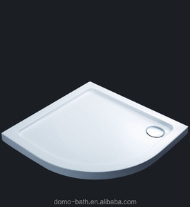 Domo White Sector Shower Base Tray round fiberglass culture marble shower pans