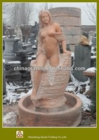 outdoor nude women water fountain
