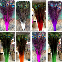Peacock Feathers natural color cock feather for party