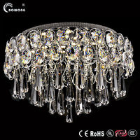 Modern famous crystal ceiling light,plastic crystal chandeliers