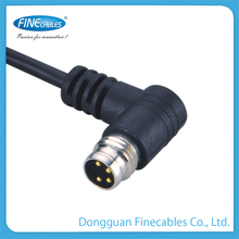 Factory price 90 degree right angle waterproof snap in type connector