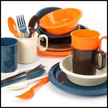 BPA free plastic dishes Picnic set with bag plastic plates, wholesalecustom plastic dishes plates manfuacturer
