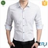 Men's long-sleeved slim polka dot shirt