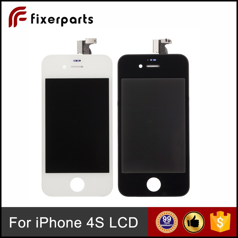 Assembly white and black for Apple for iphone 4S lcd screen repair parts