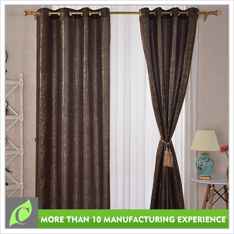 Home textile Elegant Window use blackout fabric curtain wholesale