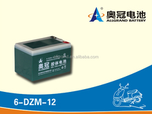 6-DZM-12 Escooter Battery/12V 12Ah Rechargeable Sealed Lead Acid Battery for E-bike/escooter