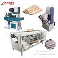 Commercial Round Wood Stick Making Wood Broom Stick Machine