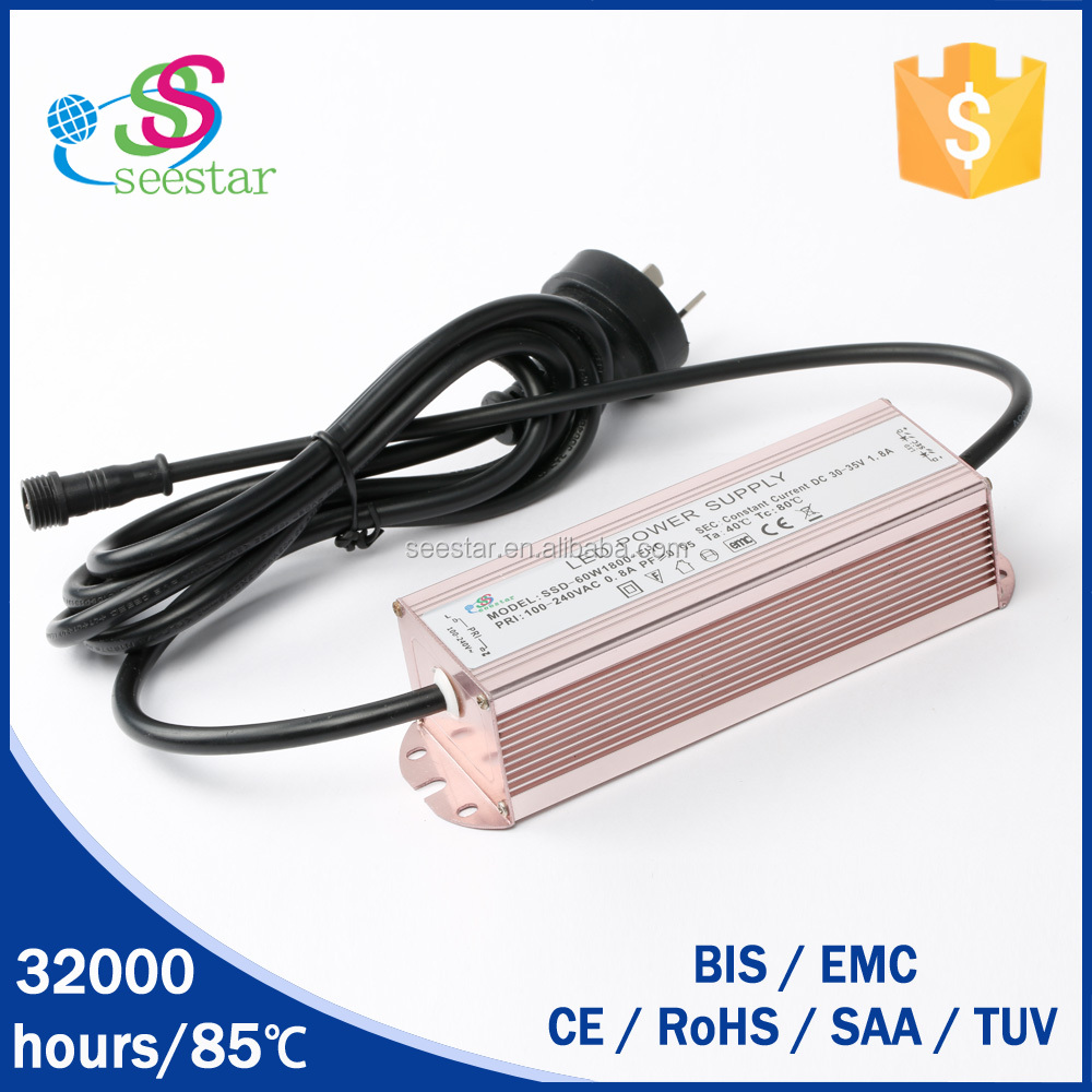 single output pass 3kv EMC 20--42vdc 30w 700ma waterproof constant current led driver