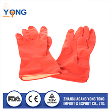 Hot Selling Matte Metallic Brushed colorful water resistant dish washing household latex glove Customized