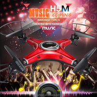 H5M Music Drones Quadcopters With Speaker Hexacopter Professional Rc Dron Flying Helicopter & Camera Copter.